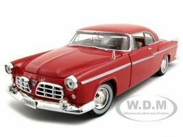 1955 Chrysler C300 Red 1/24 Diecast Model Car Motormax 73302