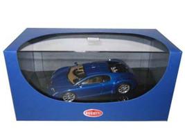 Bugatti Chiron EB 18.3 Blue 1/43 Diecast Model Car Autoart 50911