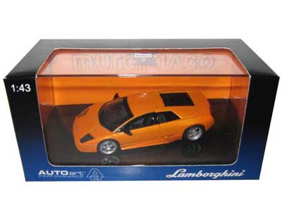 Lamborghini Murcielago Orange 1 43 Diecast Model Car Autoart 54512