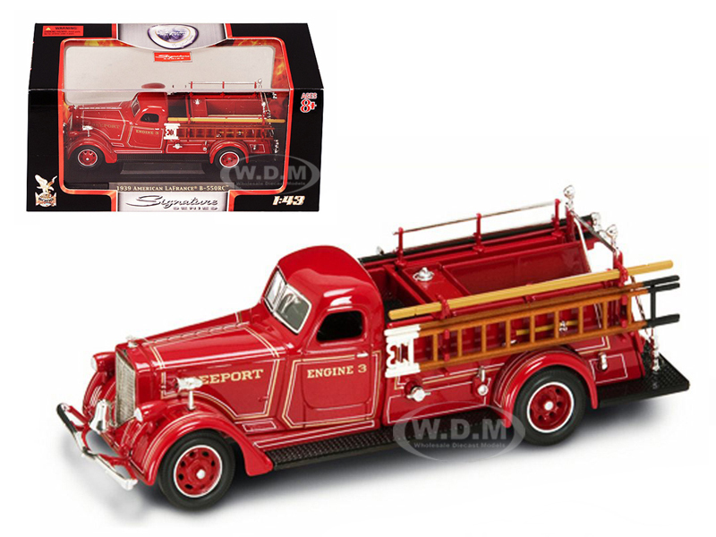 1939 American LaFrance B-550RC Fire Engine Red 1/43 Diecast Car Model Road Signature 43007