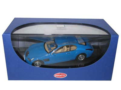 Bugatti EB 118 Paris 1998 French Racing Blue 1/43 Diecast Model Car Autoart 50921