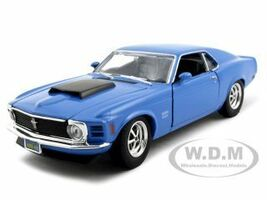 1970 Ford Mustang Boss 429 Blue 1/24 Diecast Model Car Motormax 73303