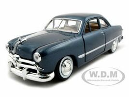 1949 Ford Coupe Blue 1/24 Diecast Model Car Motormax 73213