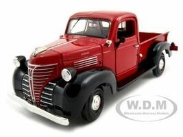 1941 Plymouth Pickup Red 1/24 Diecast Model Car Motormax 73278
