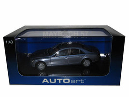 Maybach 57 Cored Azure Blue Middle/Coted Azure Blue Bright Metallic 1/43 Diecast Model Car Autoart 56151