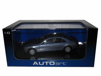 Maybach 57 Cored Azure Blue Middle/Coted Azure Blue Bright Metallic 1/43 Diecast Model Car Autoart 56151