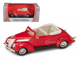 1937 Ford V8 Convertible Red 1/43 Diecast Car Road Signature 94230