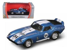 1965 Shelby Cobra Daytona #54 Blue 1/43 Diecast Model Car Road Signature 94242