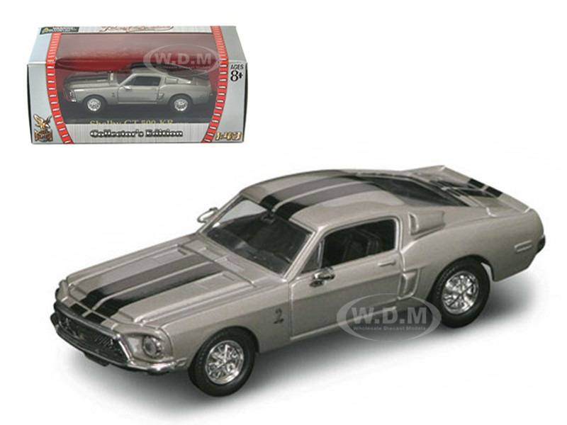 1968 Shelby GT 500 KR Silver 1/43 Diecast Car Road Signature 94214