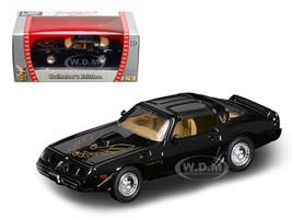 1979 Pontiac Firebird Trans Am Black 1/43 Diecast Car Road Signature 94239