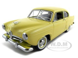 1951 Kaiser Henry J Yellow Platinum Edition 1/18 Diecast Model Car Sunstar 5091