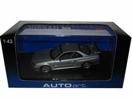1999 Nissan Skyline GTR R34 V Spec II Sparkling Silver 1/43 Diecast Model Car Autoart 57332