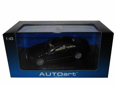Mercedes CL Coupe Black 1/43 Diecast Model Car Autoart 56242