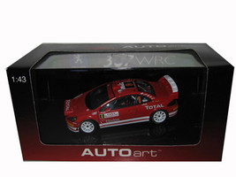 Peugeot 307 WRC 2005 Rally Monte Carlo Night Race #8 M.Gronholm/T.Rautiainen 1/43 Diecast Model Car Autoart 60555