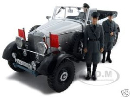 1938 Mercedes G4 White With 3 Figurines 1/18 Diecast Model Car Signature Models 38202