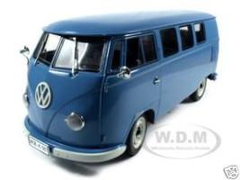 1957 Volkswagen Bus Kombi Blue 1/12 Diecast Model Car Sunstar 5061