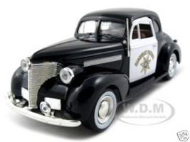1939 Chevrolet Coupe California Highway Patrol CHP 1/24 Diecast Car Model Motormax 76453