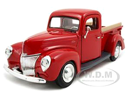 1940 Ford Pickup Truck Red 1/24 Diecast Model Car Motormax 73234