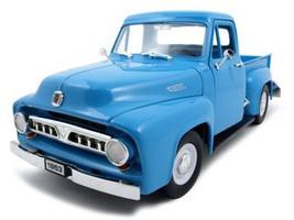 1953 Ford F-100 Pickup Light Blue 1/18 Diecast Car Road Signature 92148