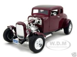 1932 Ford Coupe Burgundy 1/18 Diecast Model Car Motormax 73172