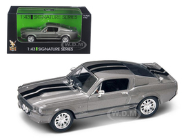 1967 Shelby Mustang GT 500E Grey Signature Series 1/43 Diecast Model Road Signature 43202