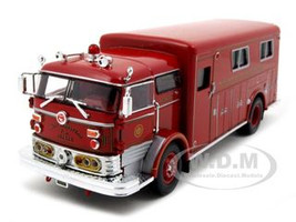 1960 Mack C Fire Rescue Box Red1/50 Diecast Model Car Signature Models 32425