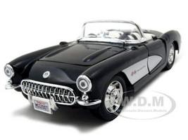 1957 Chevrolet Corvette Black 1/24 Diecast Model Car Maisto 31275