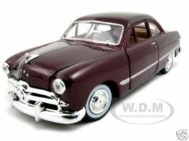 1949 Ford Coupe Burgundy 1/24 Diecast Model Car Motormax 73213