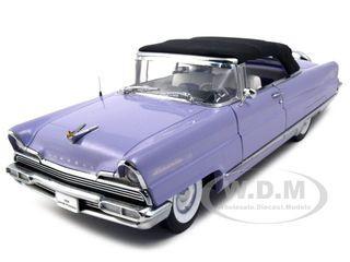 1956 Lincoln Premiere Purple Closed Convertible Platinum Edition 1/18 Diecast Model Car Sunstar 4646