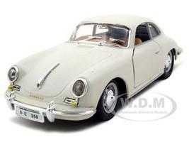 1961 Porsche 356 B Coupe Ivory 1/24 Diecast Model Car Bburago 22079