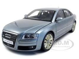 Audi A8 W12 Silver Gray 1/18 Diecast Model Car Kyosho 09212