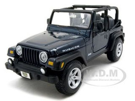 Jeep Wranger Rubicon Blue 1/27 Diecast Model Car Maisto 31245