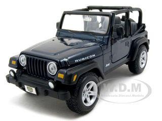 Jeep Wranger Rubicon Blue 1/27 Diecast Model Car Maisto 31245
