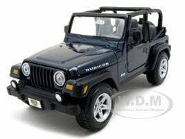 Jeep Wrangler Rubicon Blue 1/27 Diecast Model Car Maisto 31245
