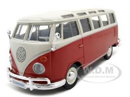 Volkswagen Samba Bus Red 1/25 Diecast Model Car Maisto 31956