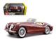 1951 Jaguar XK 120 Roadster Burgundy 1/24 Diecast Model Car Bburago 22018