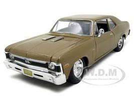 1970 Chevrolet Nova SS Gold 1/24 Diecast Model Car Maisto 31262