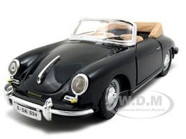 1961 Porsche 356 B Cabriolet Black 1/24 Diecast Model Car Bburago 22078