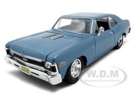 1970 Chevrolet Nova SS Coupe Blue 1/24 Diecast Model Car Maisto 31262