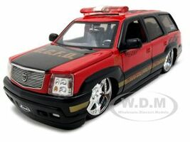2002 Cadillac Escalade Fire Chief D.C.F.D. 1/24 Diecast Model Car Jada 5632