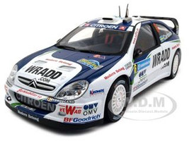 Citroen Xsara WRC OMV Kronos Carlsson/Giraudet #6 2007 Rally Sweden 1/18 Diecast Car Model Sunstar 4426 6590