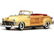 1948 Chrysler Town and Country Convertible Yellow Lustre 1/18 Diecast Model Car SunStar 6140
