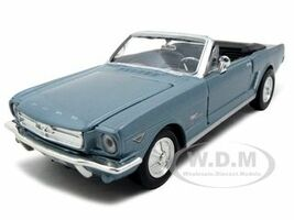 1964 1/2 Ford Mustang Convertible Blue 1/24 Diecast Model Car Motormax 73212