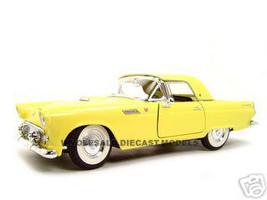 1955 Ford Thunderbird Yellow 1/18 Diecast Model Car Road Signature 92068