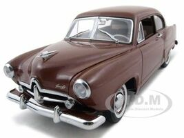 1951 Kaiser Henry J With Trunk Caribbean Coral Platinum Edition 1/18 Diecast Car Model Sunstar 5101