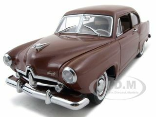 1951 Kaiser Henry J With Trunk Caribbean Coral Platinum Edition 1/18 Diecast Car Model Sunstar 5101
