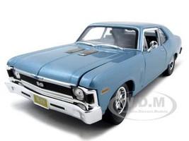 1970 Chevrolet Nova SS Coupe Blue 1/18 Diecast Model Car Maisto 31132