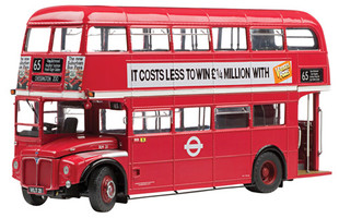 1958 Routemaster Double Decker Bus RM21-VLT 21 The GLC Years Red Limited Edition to 1999pcs 1/24 Diecast Model Sunstar 2913