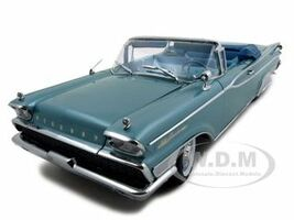 1959 Mercury Parklane Convertible Neptune Turquoise Metallic Platinum Edition 1/18 Diecast Model Car Sunstar 5151