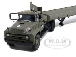 Ford F-800 Flatbed Trailer U.S. Army Diecast Model 1/50 First Gear 50-3088
